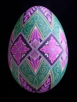 1102015 Purple Green Turkey Egg