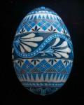 Ice Blue and White Flowered Band turkey egg1100815