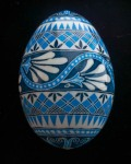 Ice Blue and White Flowered Band turkey egg 1100815