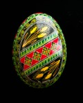 Green and red diagonal wheat duck egg1101714