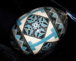 Blue White Quilt Barrel0202414
