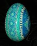 Custom Blue Goose Egg SideView