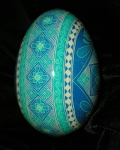 Custom Blue Goose Egg Side View