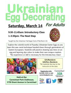Ukrainian Egg Workshop 2015