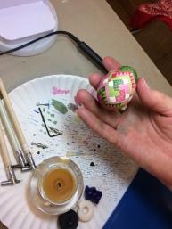 Quilt egg close